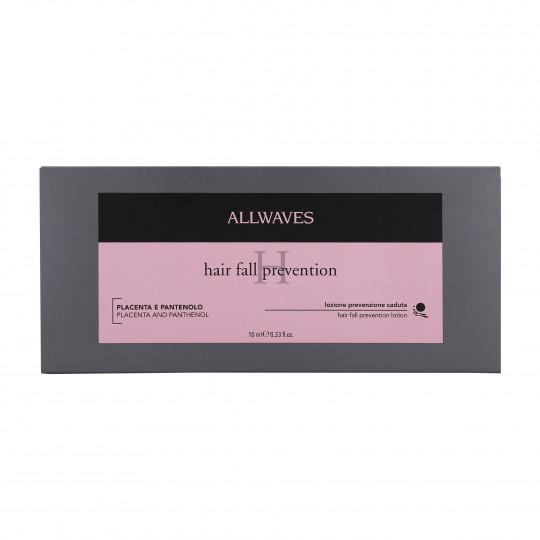 ALLWAVES LOTION ANTI HAIR LOSS PLACENT&PANTHENOL Ampollas anticaída 12X10ml - 1