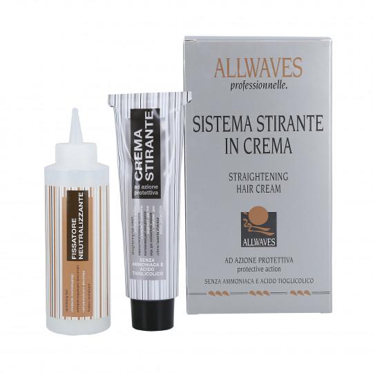 ALLWAVES STRAIGHTENING HAIR CREAM Crema alisadora 48ml + 100ml - 1