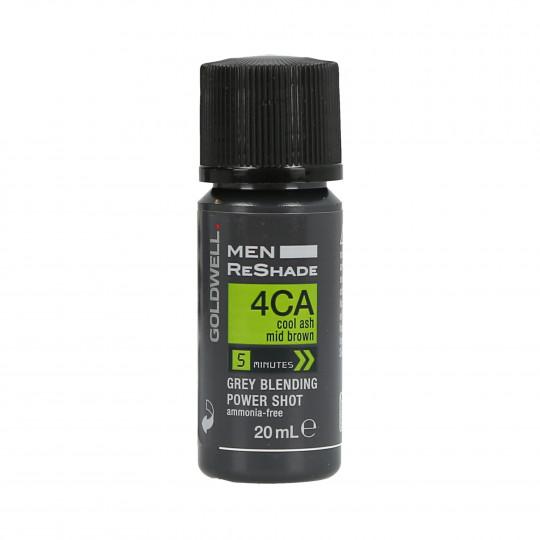 GOLDWELL MEN RESHADE Color semipermanente para hombres 4CA 20ml - 1