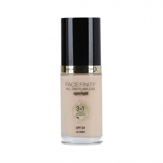 MAX FACTOR FACEFINITY All Day Flawless Base 3en1 SPF20 42 Ivory 30ml - 1