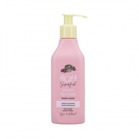 FLUFF Crema corporal hidratante con aroma a crema bruleé y frambuesas 200ml - 1