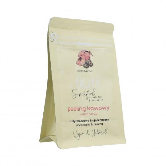 FLUFF Peeling Exfoliante de café con aroma a melocotón 100g - 1