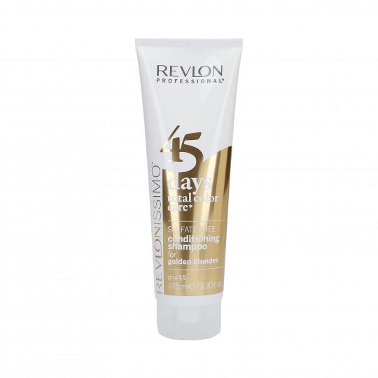 REVLON REVLONISSIMO 45 DAYS Golden Blondes Champú y acondicionador mantenimiento del color 275ml - 1
