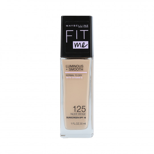 FIT ME L&S FOUNDATION 125 NUDE BEIGE 30ML