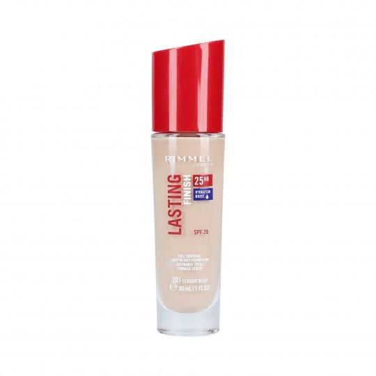 RIMMEL LASTING FINISH Base de maquillaje SPF20 201 Classic Beige 30ml