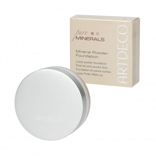 ARTDECO MINERAL POWDER FOUNDATION Base mineral en polvo 3 Soft Ivory 15g - 1